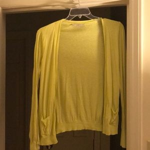 Awesome Yellow Lime LOFT Cardigan